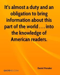 It's almost a duty and an 