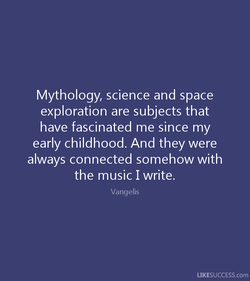 Mythology, science and space 
