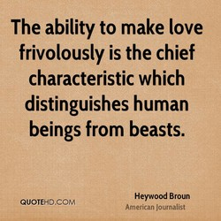 The ability to make love 