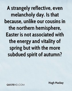 A strangely reflective, even 