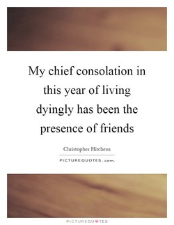My chief consolation in 
