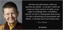 We have two alternatives: either we 