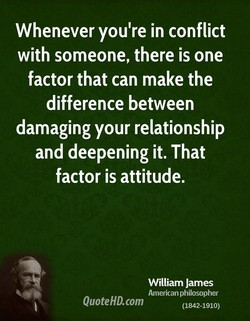 Whenever you're in conflict 