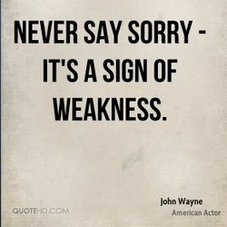 NEVER SAY SORRY - 