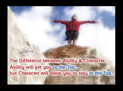 The Difference between •Abilitg & Chatactet... 