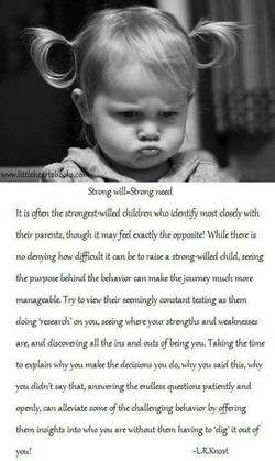 Strong will—Strong need 