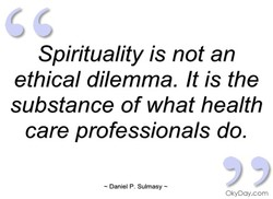 Spirituality is not an 