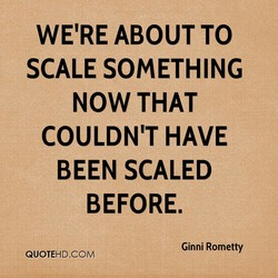 WE'RE ABOUT TO 