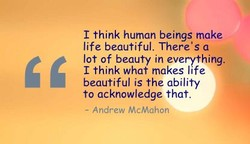 I think human beings make 