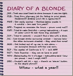 • DIARY OF A BLONDE 