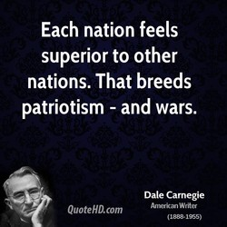 Each nation feels 