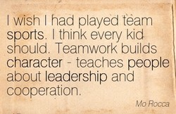 I wish I had played team 