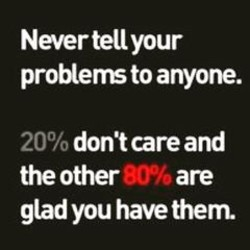 Never tell your 