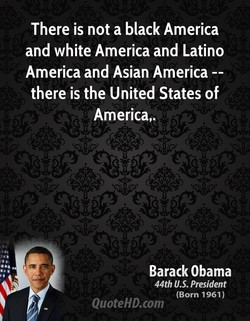 There is not a black America 
