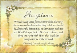 We seek acceptance from others while allowing 