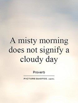 A misty morning 