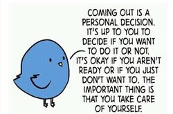 COMING OUT IS A 