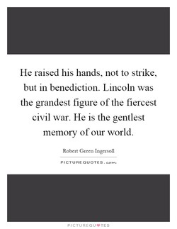 He raised his hands, not to strike, 