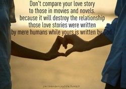 Don't compare your love story 