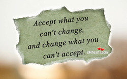 Accept what you 