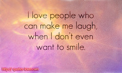I love people who 
