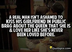A REAL MAN ISN'T ASHAMED TO 