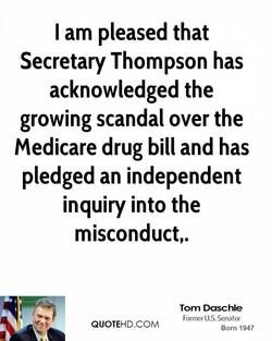 I am pleased that 