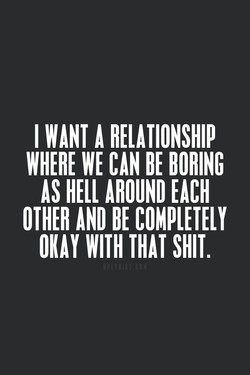I WANT RELATIONSHIP 