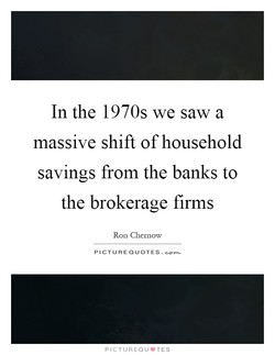 In the 1970s we saw a 
