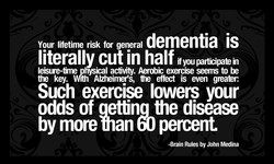 Your lifetime risk for general dementia is 