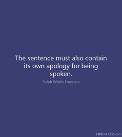 The sentence must also contain 