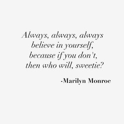 Always, always, always 