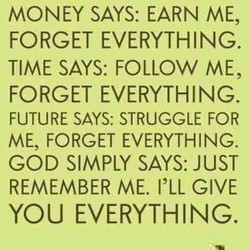 MONEY SAYS: EARN ME, 
