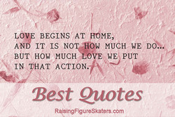 LOV BEGINS AT HOME, 