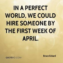 IN A PERFECT 