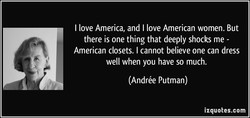 I love America, and I love American women. But 
