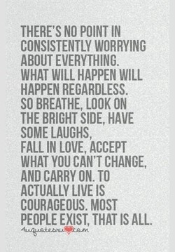 THERE'S NO POINT IN 