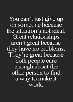 You can't just give up 