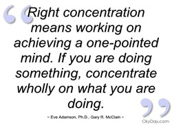 (Right concentration 