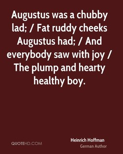 Augustus was a chubby 