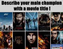 Describe your main champion 