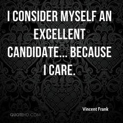 I CONSIDER MYSELF AN