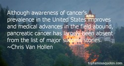 Although awareness of cancer's 
