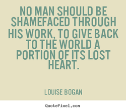 NO MAN SHOULD BE 