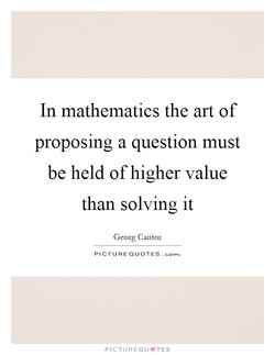 In mathematics the art of 