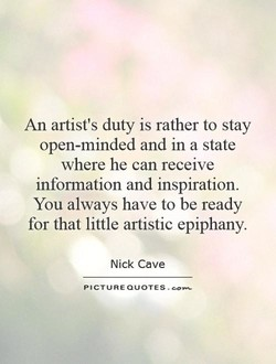 An artist's duty is rather to stay 