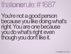You're not a good petson 