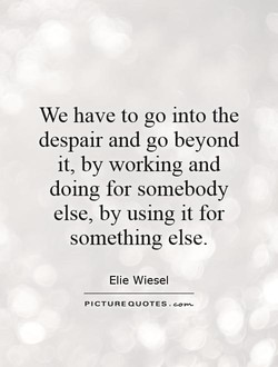 We have to go into the 