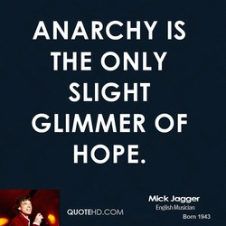 ANARCHY IS 