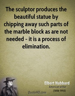 The sculptor produces the 
